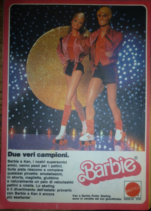 1981 ADVERTISING PUBBLICITA' BARBIE E KEN ROLLER SKATING  - Mattel Italy