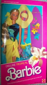 1986 DELUXE TROPICAL BARBIE