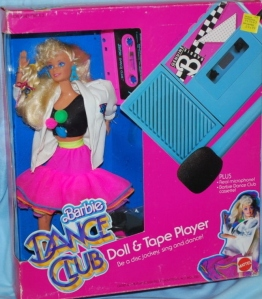 1989 Dance Club Doll & Tape Player