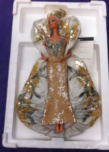 1991 Bob Mackie Platinum Barbie® Doll inside
