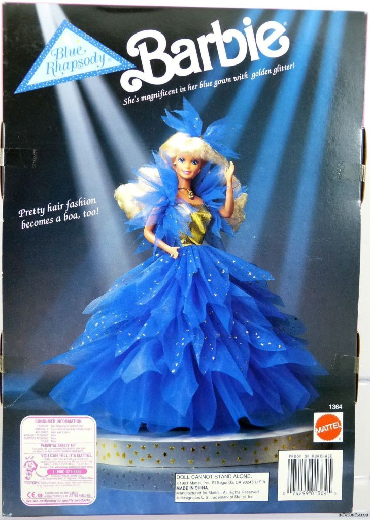 1991 Service Merchandise Blue Rhapsody Back Barbie Doll Friends And Family History And News From 1959 To The Present