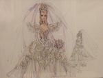 1992 Bob Mackie Empress Bride® Barbie® Doll print