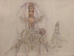1992 Bob Mackie Empress Bride® Barbie® Doll print