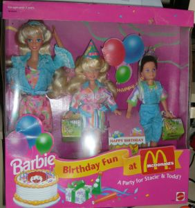 1993 Barbie Birthday fun at McDonalds's Giftset NRFB