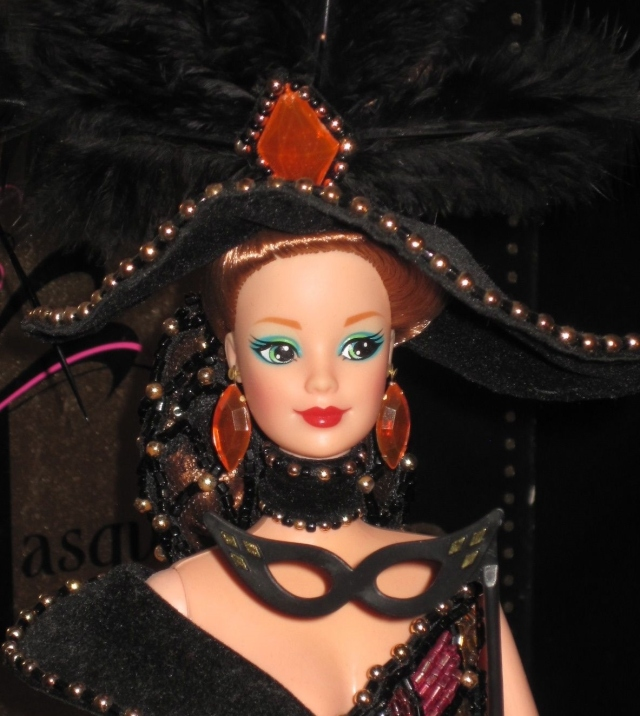 1993 Bob Mackie Masquerade Ball™ Barbie® Doll face
