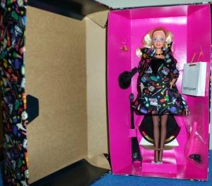 1994 1st Nicole Miller Savvy Shopper®Barbie® Doll inside