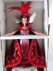 1994 Bob Mackie Queen of Hearts Barbie® Doll inside