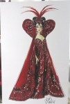 1994 Bob Mackie Queen of Hearts Barbie® Doll print