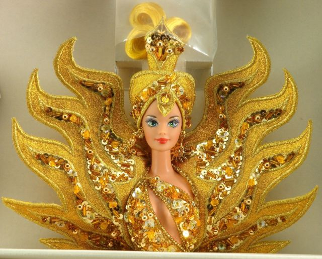 1995 Bob Mackie Goddess of the Sun® Barbie® Doll face