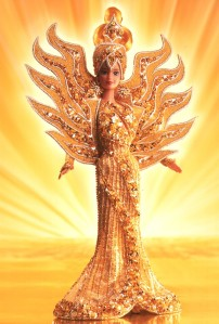 1995 Bob Mackie Goddess of the Sun® Barbie® Doll flyer