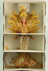 1995 Bob Mackie Goddess of the Sun® Barbie® Doll inside