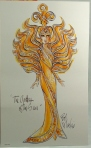 1995 Bob Mackie Goddess of the Sun® Barbie® Doll print
