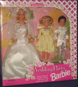 1995  Toys R Us Wedding Party white gift set