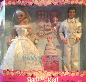 1996 Barbie & Ken Wedding Fantasy Gift Set
