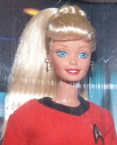 1996 Star Trek Barbie and Ken gift set face