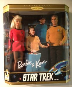 1996 Star Trek Barbie and Ken gift set