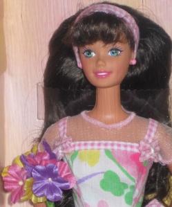 1997 Avon Spring Petals brunette face