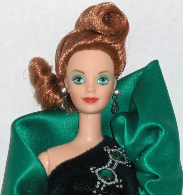 1997 Emerald Embers™ Barbie® Doll face