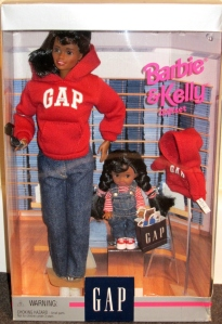 1997 Gap Barbie and Kelly gift set AA