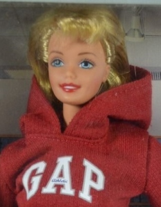 1997 Gap Barbie and Kelly gift set face