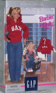 1997 Gap Barbie and Kelly gift set