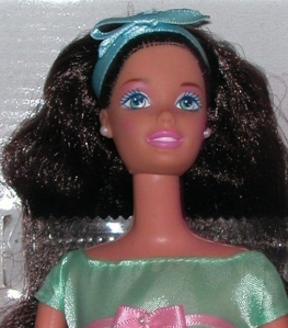 1998 Avon Spring Tea Party face brunette