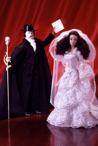 1998 FAO Schwarz The Phantom of the Opera Barbie and Ken flyer
