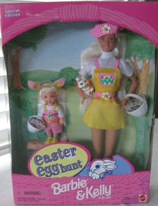 1998 Target Easter Egg Hunt Barbie and Kelly gift set