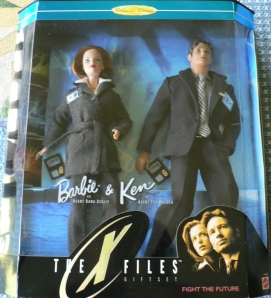 1998 The X-Files Barbie and Ken gift set NRFB