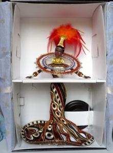 1999 Bob Mackie Fantasy Goddess of Africa™ Barbie® Doll inside