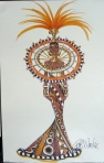 1999 Bob Mackie Fantasy Goddess of Africa™ Barbie® Doll print