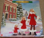 1999 Holiday Sisters Barbie, Stacie and Kelly in red revised back