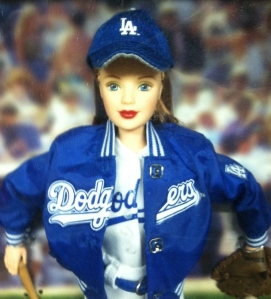 1999 Los Angeles Dodgers face