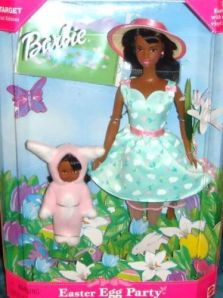 1999 Target Easter Bunny Fun Barbie and Kelly gift set  AA