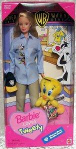 1999 Warner Brothers Barbie Loves Tweety