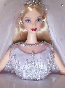 2000 MILLENNIUM Princess BARBIE Doll BRIDE SWAROVKSKI Crystals