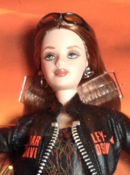 2001 Harley-Davidson® Barbie® Doll #5 face