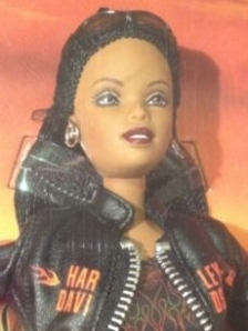 2001Harley-Davidson® Barbie® Doll #5 face