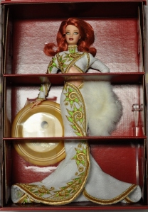 2002 Radiant Redhead™ Barbie® Doll inside