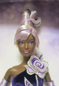 2002 Sterling Silver Rose™ Barbie® Doll AA face