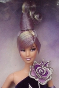 2002 Sterling Silver Rose™ Barbie® Doll face