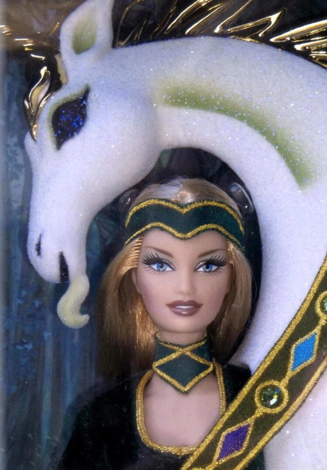 2008 Bob MackieLady of the Unicorns™ Barbie®Doll face