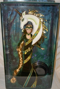 2008 Bob MackieLady of the Unicorns™ Barbie®Doll inside