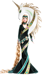 2008 Lady of the Unicorns™ Barbie® Doll by Bob Mackie