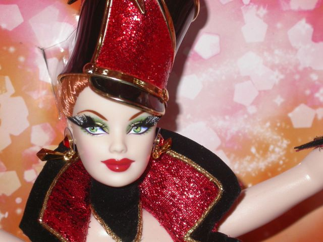 2010 Bob Mackie Circus Barbie® Doll close up face
