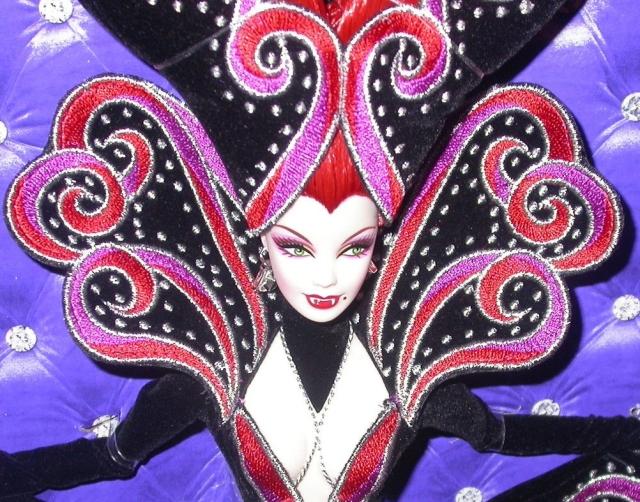 2011 Bob Mackie® Countess Dracula Barbie® Doll face