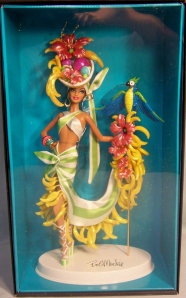 2012 Bob Mackie® Brazilian Banana Bonanza™ Barbie® Doll inside