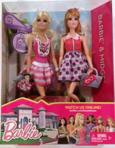 2013 BARBIE DOLL LIFE IN THE DREAMHOUSE BARBIE & MIDGE DOLLS