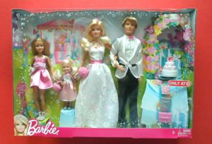 2013 Barbie I Can Be A Bride Ken Chelsea Skipper Exclusive 4 Doll Wedding Set