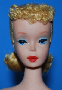 #4 Blond Ponytail Barbie - close up face